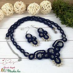 Csillagos égbolt sujtás nyaklánc nyakék fülbevaló szett (Arindaekszerek) - Meska.hu Crochet Necklace, Jewelry, Jewlery, Jewerly, Schmuck, Jewels, Jewelery, Fine Jewelry, Jewel