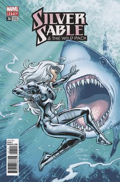 Silver Sable and the Wild Pack Legacy Variant Cover by Ron Lim Female Comic Characters, Marvel Comic Character, Marvel Dc, Marvel Comics, Comic Book Covers, Comic Books Art, Tiger Artwork, Dc Comics Collection, Avengers