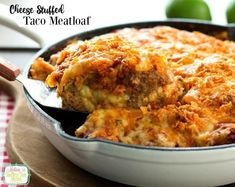 Take meatoaf to another level with this Cheese Stuffed Taco Meatloaf. Seasoned ground beef stuffed with pepper-jack cheese makes a homestyle fiesta. Entree Recipes, Meat Recipes, Mexican Food Recipes, Cooking Recipes, Hamburger Recipes, Dinner Recipes, Hamburger Ideas, Budget Recipes, Whole30 Recipes