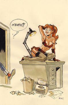 Girl Cartoon, Cartoon Art, Cartoon Characters, Rockabilly Art, Pin Up Posters, Pop Art Illustration, Creepy Art, Sexy Cartoons, Gaston