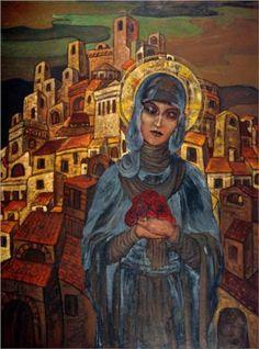 Roses of Heart. Princess Olga. - Nicholas Roerich