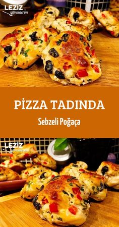 Pizza Taste with Vegetable Pastry - My Delicious Food - Fast Recipes Pizza Recipes, Vegetarian Recipes, Pizza Snacks, Other Recipes, Great Recipes, Creamy Rice, Fast Food, Healthy Comfort Food, Fish Dishes