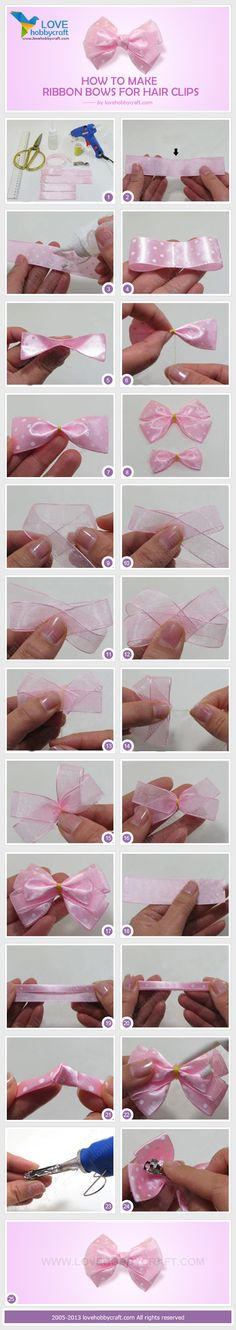 Hair bow making in a new way