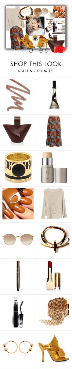 """#mules #rihannastyle"" by dominique-boiche on Polyvore featuring mode, Chanel, Weekend Max Mara, Henri Bendel, Ilia, MANGO, Ray-Ban, Clarins, Lancôme et Lucia Odescalchi"
