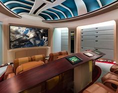 This is AWESOME. cool-Star-Trek-home-theater-movies