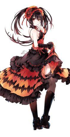 Anime,Аниме,Tokisaki Kurumi,Kurumi Tokisaki,Date a Live,Tsunako,Anime Art,Аниме арт, Аниме-арт