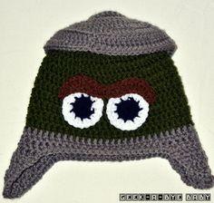 Oscar the Grouch Crocheted Hat