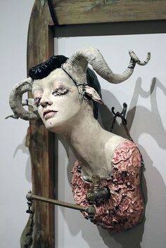 art Anatomy imagery horns mannequins avant garde taxidermy carnivals installations Fortune Favors The Bold circus freaks Parlor Gallery sarah davey imagary