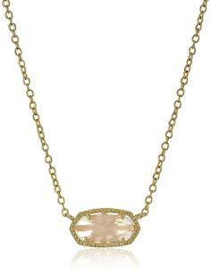 Kendra Scott 'Signature' Elisa Gold Rose Quartz Pendant Necklace ^^ Click now. Unbelievable jewelry right here! : Jewelry Trends