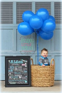 First Birthday Boy or Girl Chalkboard by LadybugsandGrasshopp