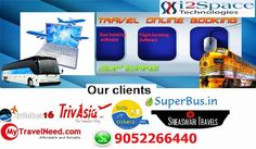 i2space technologies is a leading Travel Booking Software Development company provides online travel portal software to all global clients with very low prices. Our online travel portal offers bus booking software, flight booking software, hotel booking software, holiday packages etc. For more details please contact us at 9052266440 / 9704536531 or visit our website http://www.i2space.com/travel-booking-software.html