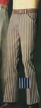 1969 Striped Flare Leg Denim