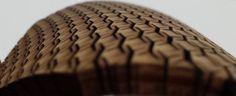 Picture of Cross Lattice - laser cut bent wood