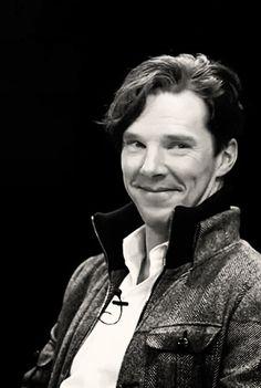 Benedict Cumberbatch. Awwww....that smile! *melting*