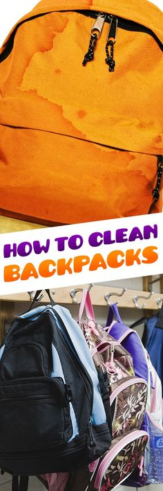 In the daily routine of lunchboxes, science experiments, markers  & pens, gum and more, backpacks are often-overlooked cleanup jobs  waiting to happen. Cleaning your kids' backpack every few months will  keep it looking (and smelling!) good throughout the year, and beyond.
