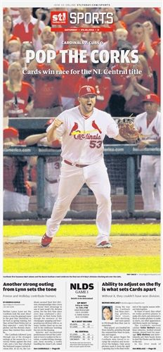 St. Louis Cardinals 2013 NL Central Champions Poster - buy yours at www.thepost-dispatchstore.com