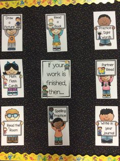 Fast finishers bulletin board, great for back to school and classroom management. 34 different activity cards to choose from. $