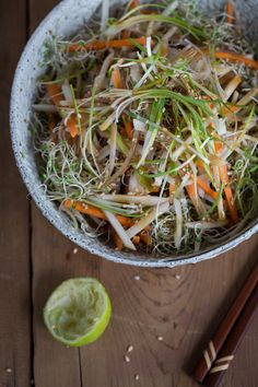 Jerusalem Artichoke Winter Slaw with Ponzu Dressing by goboroot #Salad #Slaw #Jerusalem_Artichoke #Healthy