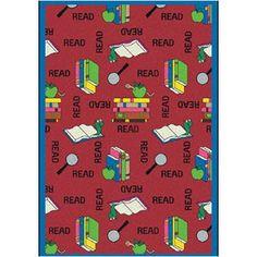 Joy Carpets Educational Bookworm Kids Rug