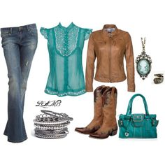 """City Girl Falls for a Country Boy"" by leeannalamb on Polyvore"