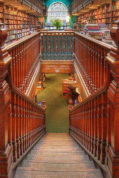 Stairs to another world. Daunt Books in London.