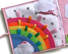 Quiet book PAGE, busy book, sensory toy for kids with rainbow