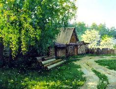 Сельский пейзаж. Галерея работ художников