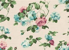 *This product cannot be ordered online. Please call 08450 262 440 to place an order* This high quality vintage wallpaper is digitally printed to order, inspired by graphic prints and favourite vintage fabrics from our archives. The surface finish is matt and smooth and the backing is a non-woven quality, also known as 'Paste-the-Wall'. This is a special backing which allows wallpaper to be hung dry from the roll - easy, quick and clean! This design features a stunning, large scale rose ...