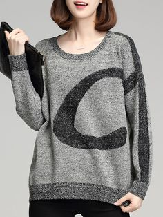 Round Neck Patchwork Casual Batwing Sleeve Long Sleeve Knit Pullover – wanokitty pullover outfit jeans athletic pullover with jeans athletic pullover hoodie Trendy Outfits, Fashion Outfits, Fashion Trends, Fashion Sale, Batwing Sleeve, Long Sleeve, Comfortable Outfits, Cute Tops, Types Of Sleeves