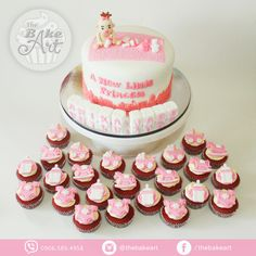 Baby Girl Christening Themed Cake and Cupcakes Christening Cakes, Baby Girl Christening, Cupcake Cakes, Cupcakes, Themed Cakes, Desserts, Food, Baptism Cakes, Theme Cakes
