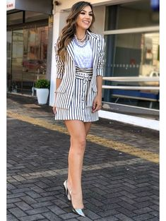 Blazer-Sarja-Navy Chic Outfits, Summer Outfits, Fashion Outfits, Womens Fashion, Lauren, Casual Chic, Short Dresses, Clothes For Women, Lady
