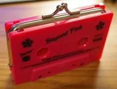pink barbie tape coin purse
