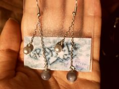 "Dangling Earrings: ""Pearlesque in Blue"""