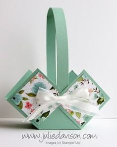 Julie's Stamping Spot — Stampin' Up! Project Ideas by Julie Davison: As… Julie's Stamping Spot — Stampin' Up! Project Ideas by Julie Davison: As Seen on TV: Video Tutorial for Spring Basket Birthday Bouquet, Diy Ostern, Easter Projects, Easter Crafts For Kids, Paper Basket, Spring Crafts, Diy Paper, Diy Gifts, Stampin Up