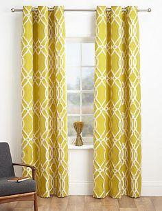 Geometric Print Curtains | M&S