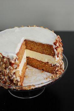 Carrot Cake and Cheesecake Cake | Beantown Baker