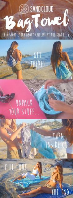 """It's more than a bag, much more than a towel... our Festival Bag Towel is a high quality backpack with a stylish Turkish towel sewn up inside. The zipper pocket can even fit a full 13"""" Macbook. And to top it all off, we donate 10% of net proceeds to preserve marine life!:"""