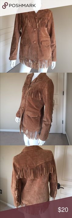 Very good condition. Length: Size S but fits like a M Vintage Jackets & Coats Real Leather, Suede Leather, Vintage Leather Jacket, Fringe Jacket, Fashion Tips, Fashion Design, Fashion Trends, Coats, Unisex