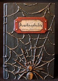 SPIDERS! Another tutorial for a Halloween altered book. could use techniques for any book/journal