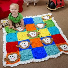 Monkey Around Baby Blanket (Free Pattern)