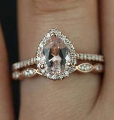 Add a #stackable ring to dramatically change the look of your #engagement ring without taking away from your stunning #diamond.