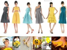 grey, teal, and yellow wedding colors?