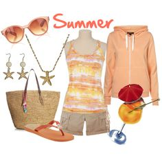 summer, created by danyellefl01 on Polyvore