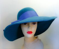 Millinery  Hand Made  Felt Hat  Downtown by katherinecareyhats, $225.00
