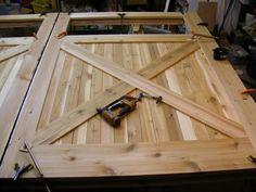 homemade wood carriage house garage door plans