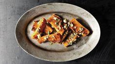 Caramelized Squash Wedges with Sage-Hazelnut Pesto