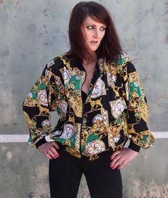 80s vintage bold print bomber jacket *SOLD*