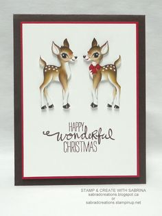 Stamp & Create With Sabrina: Home For Christmas DSP Cards - #1, 2 & 3