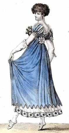 1807 dress ~ long tunic over sheer chemise