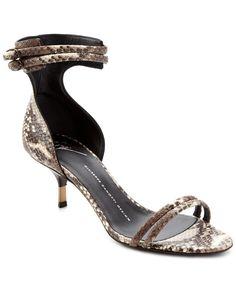 Giuseppe Zanotti Snakeskin Kitten Heel Sandal is on Rue. Shop it now.